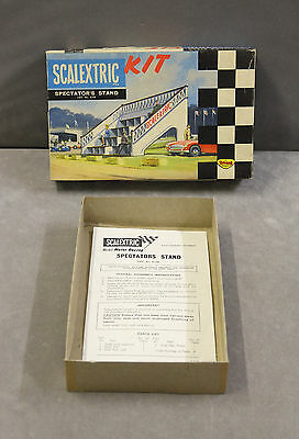 Vintage SCALEXTRIC K705 Kit Built Spectator's Stand - EMPTY BOX + INSTRUCTIONS