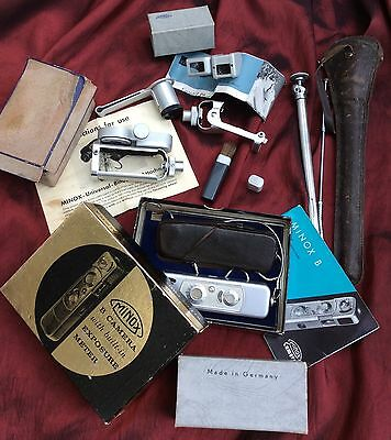Vintage Spy Minox B Camera With 5 Vintage Accessories