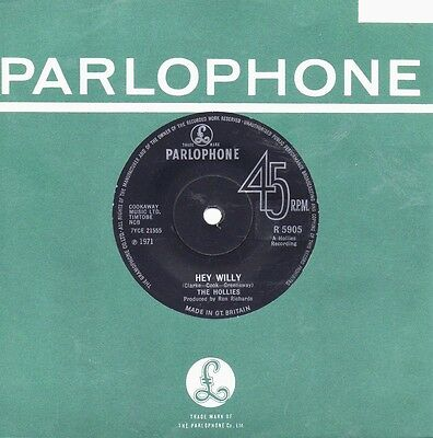 """THE HOLLIES    """" HEY WILLY """"    (PARLOPHONE)  1971  Nr.EX"""