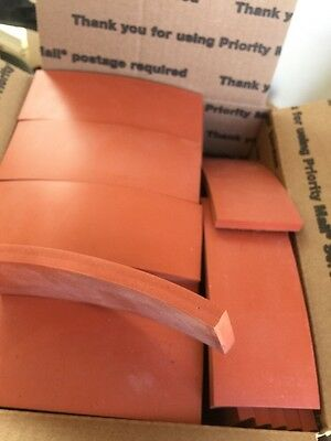 "Silicone Strips 3/8"" Thick 2""1/2 X 6"" Flat Rate Box Stuff"