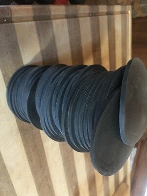 "NEOPRENE RUBBER DISCS 3/16"" Thick Little Over 4"" Round"