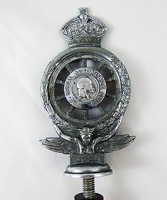 Vintage Original Edwards VII The Royal Automobile Club (RAC) Car Badge  Mascot