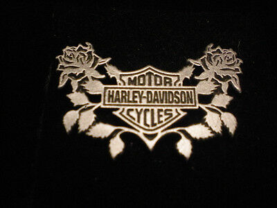 Harley Davidson  Classic Shield With Roses  (Pin)