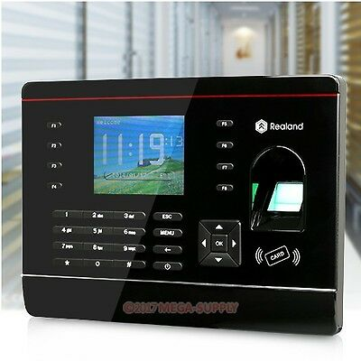Biometric Fingerprint And ID Card Employee Attendance Time Clock With TCP/IP NEW