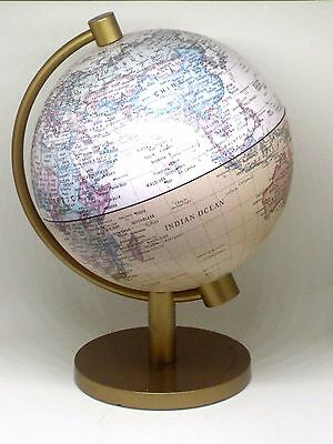 Insight World Globe With Gold Stand Base 20cm Tall