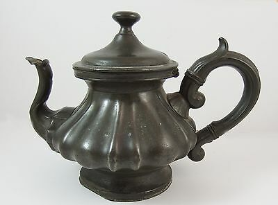 Antique J W Wolstenholme, Sheffield Pewter Teapot