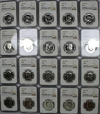 Certified Roll Of 20 Kennedy Silver Half Dollar Proofs Ngc Pf 67 - Nice Roll!!!