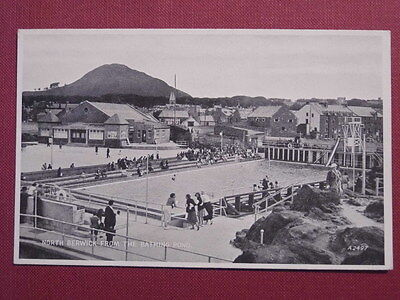 NORTH BERWICK BATHING POND. POSTCARD, circa 1937. Fine unused condition.