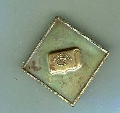 """Civil War, Brass 15th.Corps, 40 Rounds """"US"""" Corps Badge maybe from  Bannermanns"""