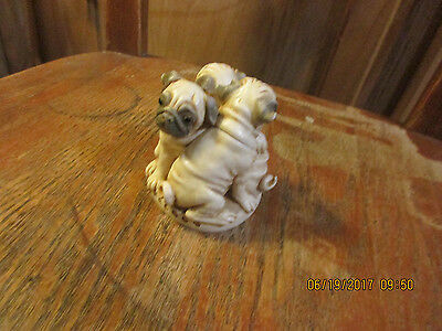 Pug&Playl3 Pug Dogs Top Removes-Snowman Inside & Dec.12-Coelacanth On Head 2002