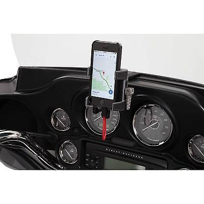 Ciro Smartphone GPS Holder w/ Charger Fairing Mount for 1996-2013 Harley Touring