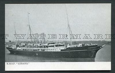 "Royal Mail Lines Official Pc ""atrato"" Postcard"