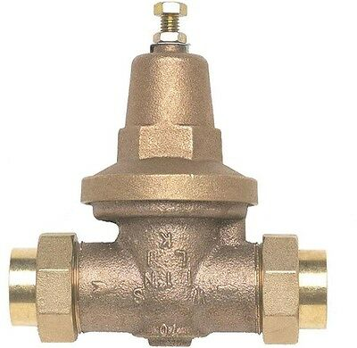 1 in. Water Pressure Reducing Valve Lead-Free Bronze Double Union Female Copper