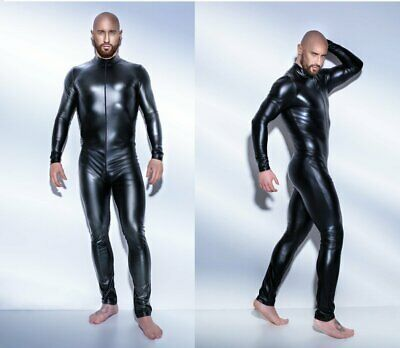 NOIR HANDMADE POWERWETLOOK OVERALL Body gay clubwear schwarz gothic wetlook pvc