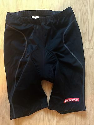 Men's Bellwether Black Fitted Padded Cycling Bike Shorts Size Xl