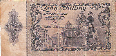 Austria Hungary Banknote - 10 Zehn Schilling from 1950
