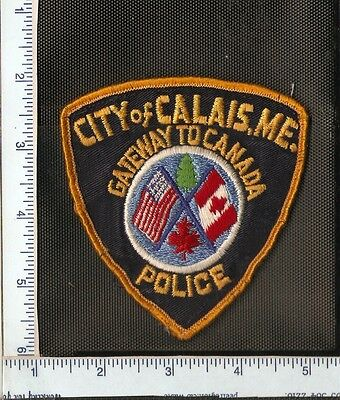 for auction, 1 City of Calais Police Department shoulder patch.