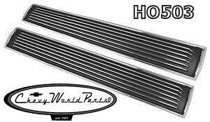 1967 Chevelle El Camino Ss Hood Louver Inserts Pair