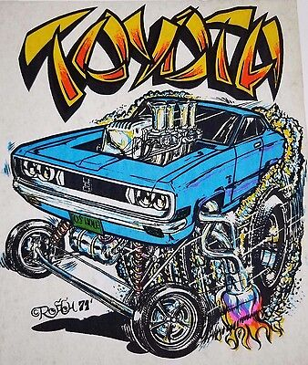 Vintage Car T Shirt Transfer TOYOTA CELICA Hot Rod 1971 RARE!!!