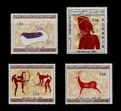 #51 - ALGERIA - CAVE WALL PAINTINGS --- COMPLETE SET of 4 STAMPS --- VF MINT NH
