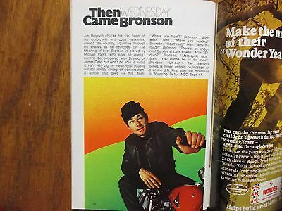 Sept. 13, 1969 FALL PREVIEW TV Guide(THEN  CAME BRONSON/THE BRADY BUNCH/ROOM 222