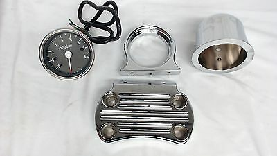 OEM Kawasaki Chrome Ball Milled Tachometer Kit For Vulcan 1500 Classic Drifter