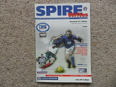 Chesterfield v Blackpool 2000-2001 Feb. 24th Division 3