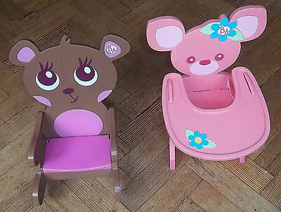 Baby Alive Doll Bundle, High Chair and Rocking Chair, Rare Set.