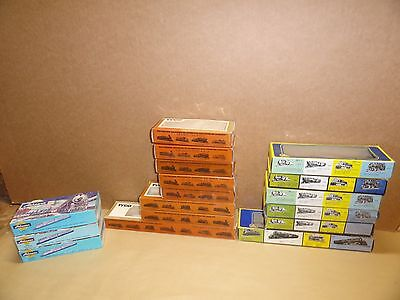 HO Scale Set Lot of 17 Trains Empty Car Boxes Used Mixed lot Tyco, AHM, Athearn