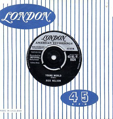 """RICK NELSON  """" YOUNG WORLD / SUMMERTIME """" (LONDON) 1962 Nr.EX"""