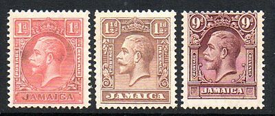 Jamaica: 1929 KGV set (3) SG 108-10 mint
