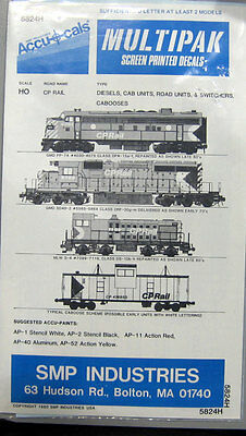 Accucals 5824H CP Rail Diesels, CAB Units, Road Units Switchers Cabo Decal Sheet