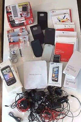 Mobile phone Empty boxes Chargers Manuals and Accessories Joblot Spares Repairs