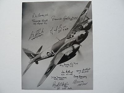 Mosquito Photo Signed 12 RAF WW2 Mosquito Veterans