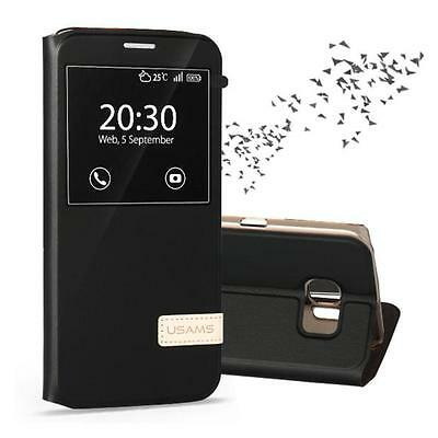 New Window View Stand Cover Muge Leather Flip Case For Samsung Galaxy S7 Edge UK
