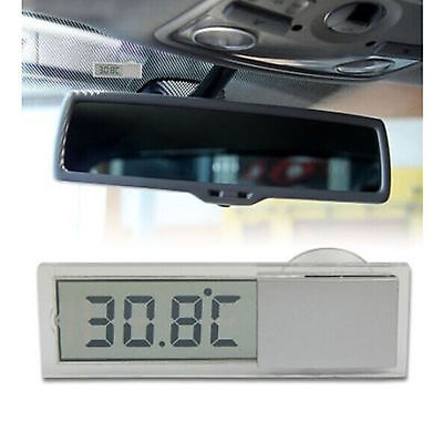 2PCS Vehicle Car View Mirror Suction Cup Digital LCD Temperature Thermometer