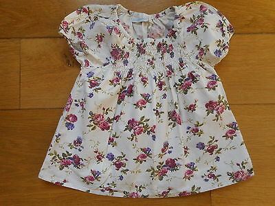 Girls Floral Cotton Top age 2-3 by JoJoMaman Bebe