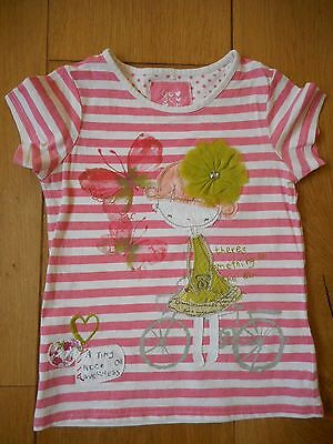 Girls Striped Cotton Top age 4-5 by NEXT