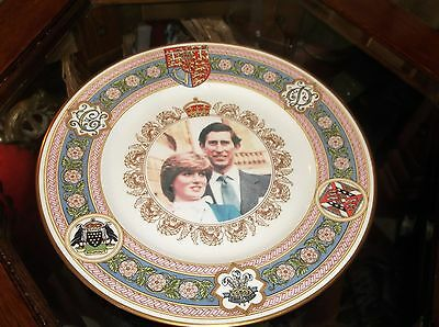 Collectable Charles Cornwall Diana Ltd Ed Marriage Plate Caverswall Houmout