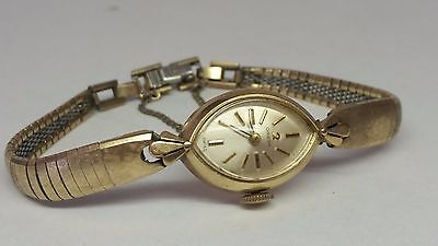 Vintage Omega Ladies 10k Gold Filled Watch for Parts Repair