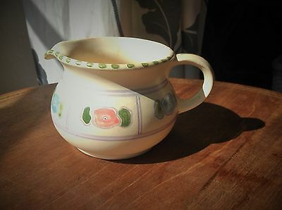 Vintage Collectable Handpainted Small Curvy Jug Honiton Pottery Devon Pastels