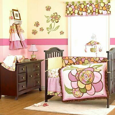 New COCALO Baby WILLA Patchwork FLORAL WINDOW VALANCE GIRL Pink Green Brown