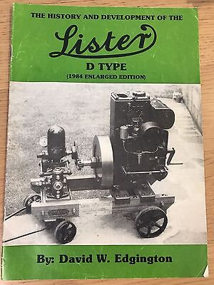 Lister engines booklet / manual -  History and development of the D type 1984