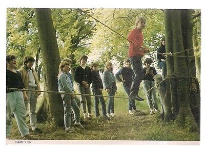 CAMP FUN, Wiltshire North Girl Guides  used 1993 postcard