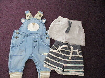 Baby Boys Dungarees And Shorts - 0-3 Months
