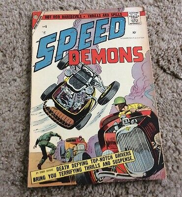 1957 Speed Demons #6 Charlton Silver Age Nice LOOK