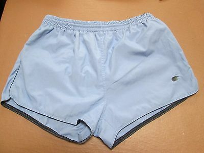 Fine blue nylon swim shorts, size XL
