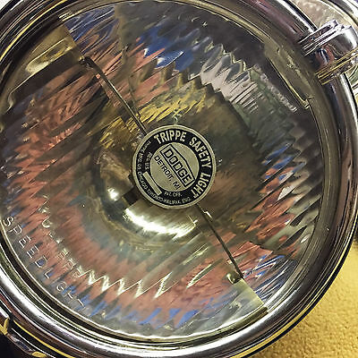 Dodge Senior Trippe Lights, Round-Back Chrome with Bubble Levels