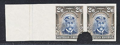 S.rhodesia 1924 Kgv Waterlow 2/6 Imperforate Proofs Pair Mnh.  A148