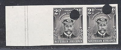 S.RHODESIA 1924 KGV WATERLOW 2d IMPERFORATE PROOFS PAIR MNH.  A150